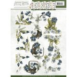 CD10858 - 3D Knipvel - Precious Marieke - Fantastic Flowers - Blue Grapes_