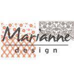 DF3444 - Marianne Design - Design Folder - Anja's Flower Border  - Folder + Die - 141x141mm_