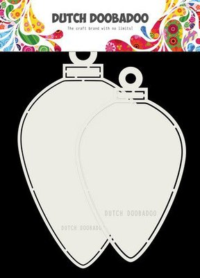 Dutch Doobadoo Card art Christmas kerstballen ovaal 120x210mm 470.713.730