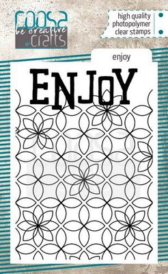 COOSA Crafts clearstamps A7 - Enjoy COC-091