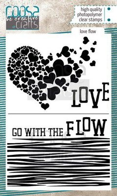 COOSA Crafts clearstamps A6 - Love Flow COC-092