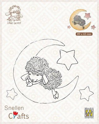 Nellie's Choice Clear stamps Little Lammy Lammy in dreamland SCLOLA007 89x65mm