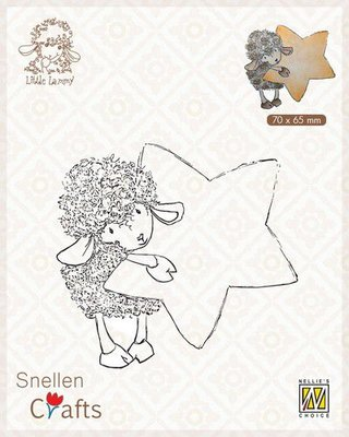 Nellie's Choice Clear stamps Little Lammy Lammy with star SCLOLA006 70x65mm