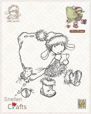 Nellie's Choice Clear stamps Little Lammy Santa Lammy SCLOLA004 75x75mm
