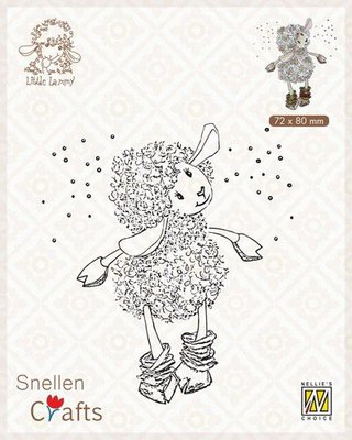 Nellie's Choice Clear stamps Little Lammy It's snowing…!! SCLOLA002 72x80mm
