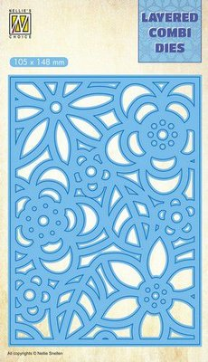 Nellie's Choice Layered Combi Die flowers-3 laag B LCDB005 105x148mm