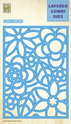 Nellie's Choice Layered Combi Die flowers-3 laag A LCDB004 105x148mm
