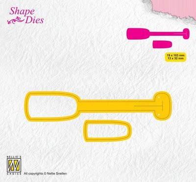 Nellies Choice Shape Die - ticket & tags - tag 1 SD173 19x103/13x32mm
