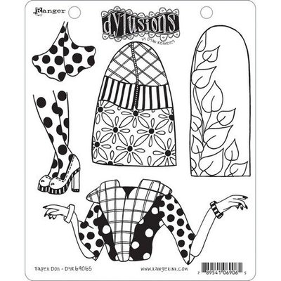 Ranger Dylusions Cling Stamp Set Paper Doll DYR69065 Dyan Reaveley