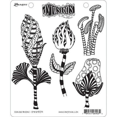 Ranger Dylusions Cling Stamp Set Glorious Blooms DYR69034 Dyan Reaveley
