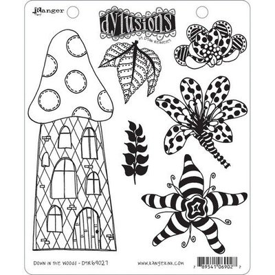 Ranger Dylusions Cling Stamp Set Down in the Woods DYR69027 Dyan Reaveley