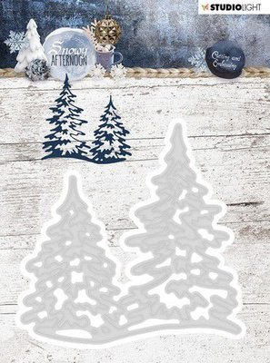 Studio Light Embossing Die 95x95 mm, Snowy Afternoon nr 218 STENCILSA218