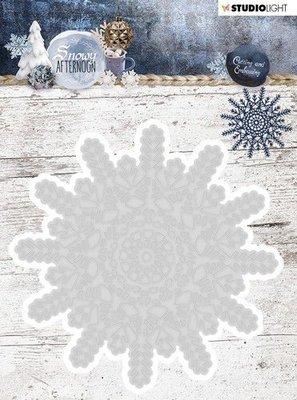 Studio Light Embossing Die 102x102 mm, Snowy Afternoon nr 216 STENCILSA216