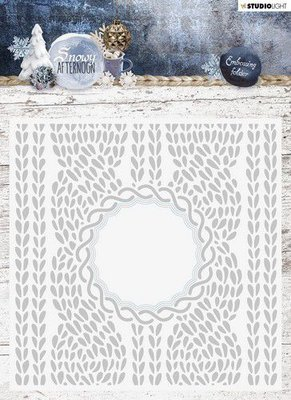 Studio Light Embossing Folder With Die Cut, Snowy Afternoon nr.01 EMBSA01