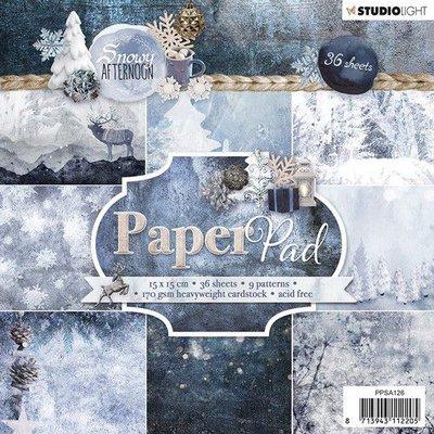 Studio Light Paper pad 36 vel nowy Afternoon nr.126 PPSA126 15x15cm