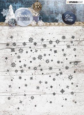 Studio Light stempel 14x14 Background Snowy Afternoon nr 401 STAMPSA401