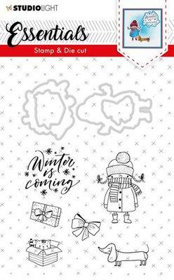 Studio Light Stamp & Die Cut A6 Essentials Christmas nr 28 BASICSDC28