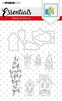 Studio Light Stamp & Die Cut A6 Essentials Christmas nr 26 BASICSDC26