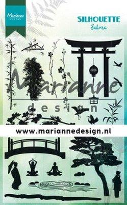 Marianne D Clear Stamps Silhouette Sakura CS1033 115x185 mm