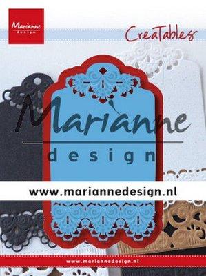 Marianne D Creatable Brocante label LR0616 120x160 mm