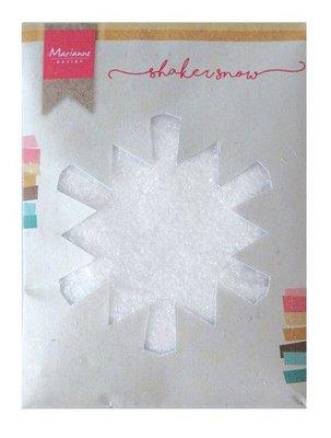 Marianne D Shaker fijne sneeuw met glitter  - 50 gr LR0028 130x160x10 mm