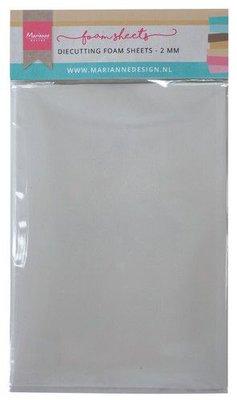 Marianne D Die cutting foam sheet A5 - 2 mm 5st zelfklevend dz LR0023 150x260x9 mm