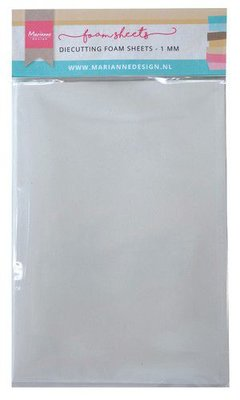 Marianne D Die cutting foam sheet A5 - 1 mm 5st zelfklevend dz LR0022 150x260x9 mm