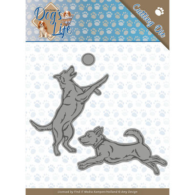 ADD10190 Dies - Amy Design - Dogs - Playing Dogs