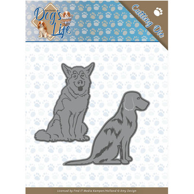 ADD10189 Dies - Amy Design - Dogs - Sitting Dogs
