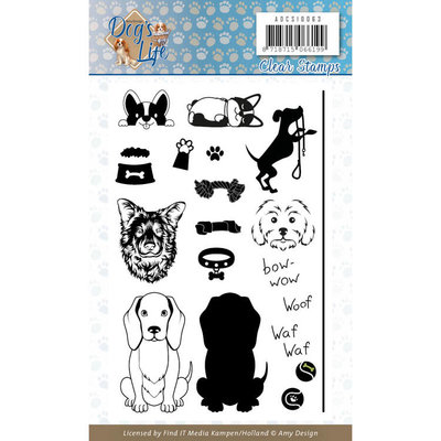 ADCS10063 Clear Stamps - Amy Design - Dog's Life
