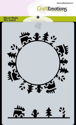 CraftEmotions Mask stencil Christmas -circle cars Carla Creaties