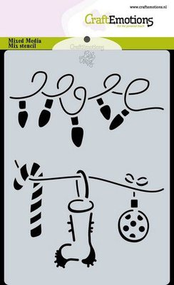 CraftEmotions Mask stencil Christmas - decorations Carla Creaties