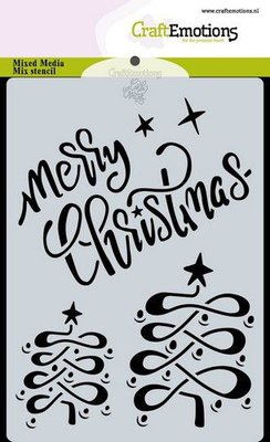 CraftEmotions Mask stencil Christmas - Merry Christmas Carla Creaties