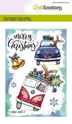 CraftEmotions clearstamps A6 - x-mass cars 1 Carla Creaties