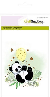 CraftEmotions clearstamps A6 - panda GB