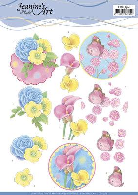 CD11394 - 3D knipvel - Jeanine's Art - Flowers