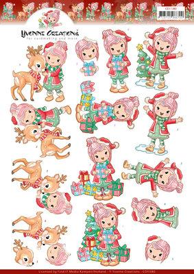 CD11380 - 3D knipvel - Yvonne Creations - Lola loves Christmas