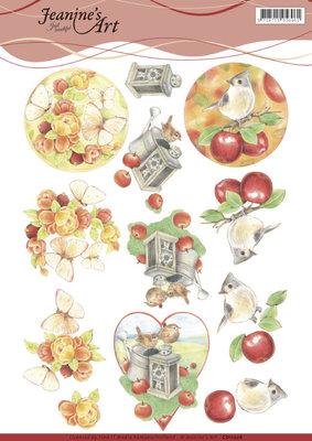CD11206 - 3D knipvel - Jeanines Art - Birds and Butterflies