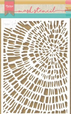 Marianne D Stencil Tiny's Sliced Wood PS8040 149x210 mm (09-19)
