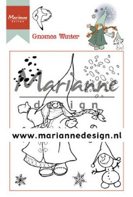 Marianne D Clear Stamp Hetty's Gnomes winter HT1648 15,5 x 10,5 cm (09-19)