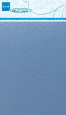 Marianne D Decoratie Metallic papier 5vl - Lichtblauw CA3141 A5 (09-19)