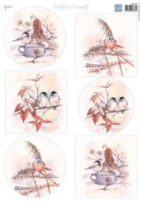 Marianne D Knipvellen Mattie's Mooiste - Winter birds MB0181 A4 6 designs (09-19)