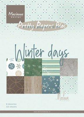 Marianne D Paperpad Marleen's Winter days PK9164 A5 15x21cm (09-19)