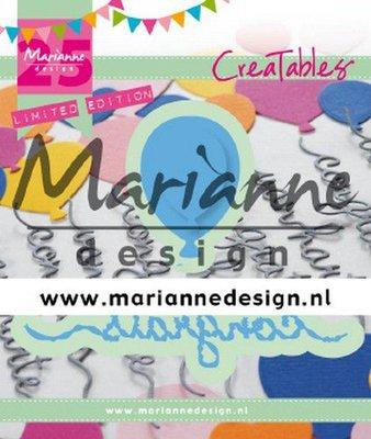 Marianne D Creatable Congrats & Balloon 3 st - 25th anniversary LR0626 (09-19)