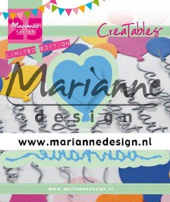 Marianne D Creatable Van Harte & ballon 3 st - 25e verjaardag LR0625 (09-19)