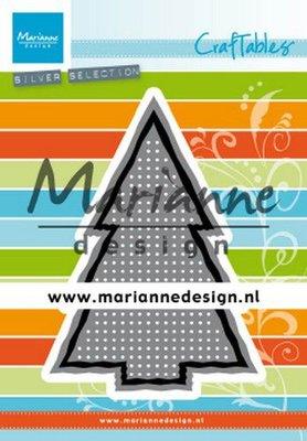 Marianne D Craftable Cross Stitch kerstboom CR1481 74x109 mm (09-19)