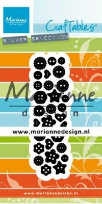 Marianne D Craftable Punch Die knopen CR1480 28x94 mm (09-19)