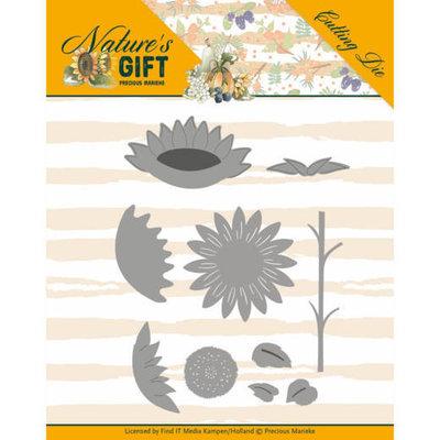 PM10167 Dies - Precious Marieke - Nature's Gift - Sunflowers