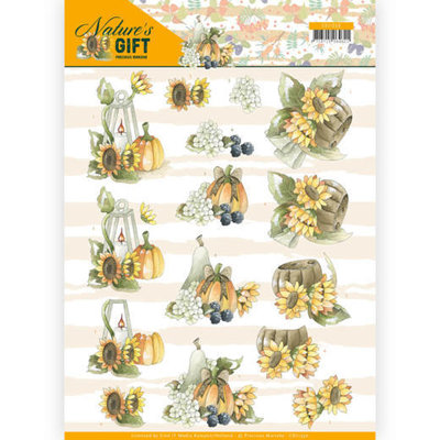 CD11350 3D knipvel - Precious Marieke - Nature's Gift - Yellow Gift