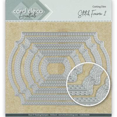 CDECD0034 Card Deco Essentials Cutting Dies Stitch Frame 2 – 14x10cm